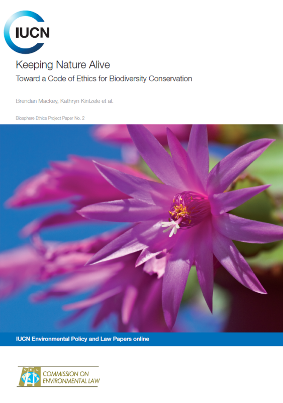 Keeping Nature Alive: Toward a Code of Ethics for Biodiversity Conservation (Chicago Wilderness Relato)